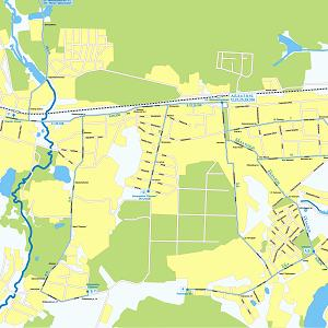 Карта города Железнодорожный (карта Железнодорожного)