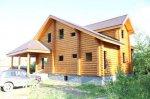 Строительство домов из оцилиндрованного бревна, газоблока с коммуникациями.
