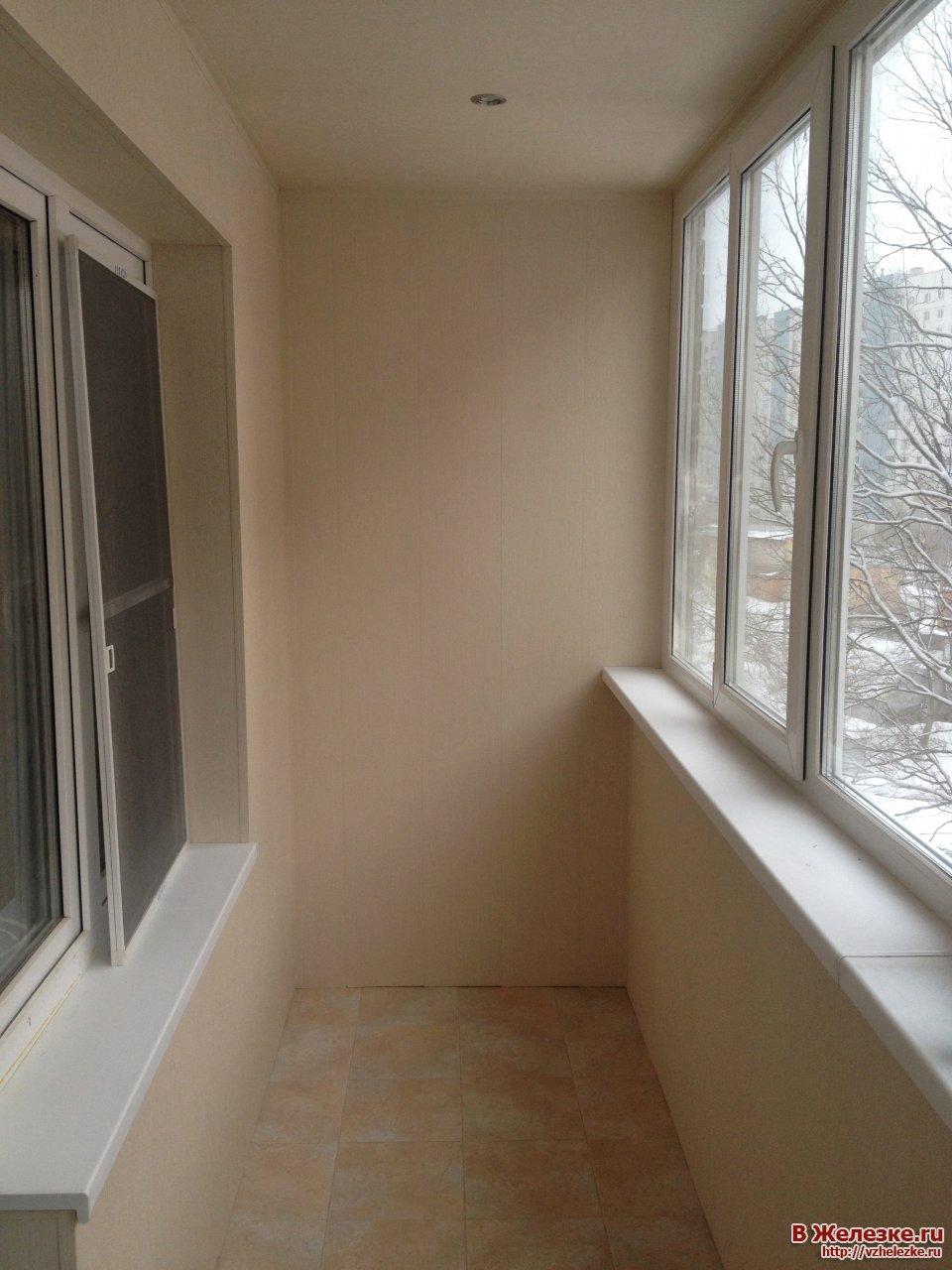 Отделка балкона под ключ.